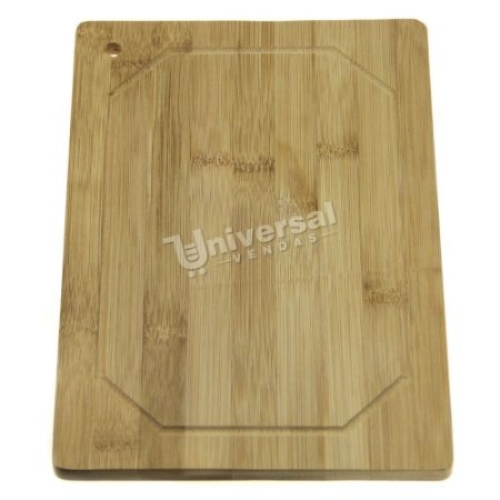 Tábua De Corte Madeira De Bambu Carne Churrasco 29x18 Cm