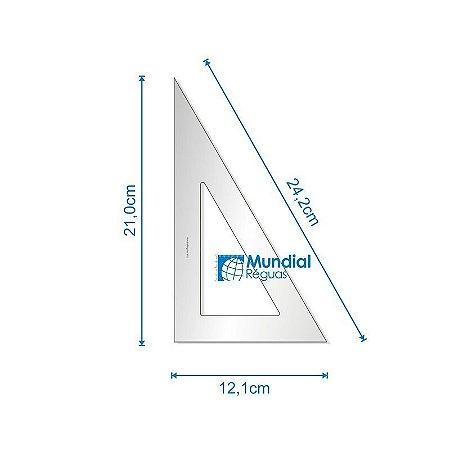 Esquadro 60º 21 cm