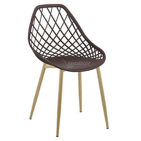 Cadeira Marine Café Wood em PP