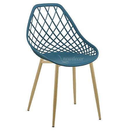 Cadeira Marine Turquesa Wood em PP