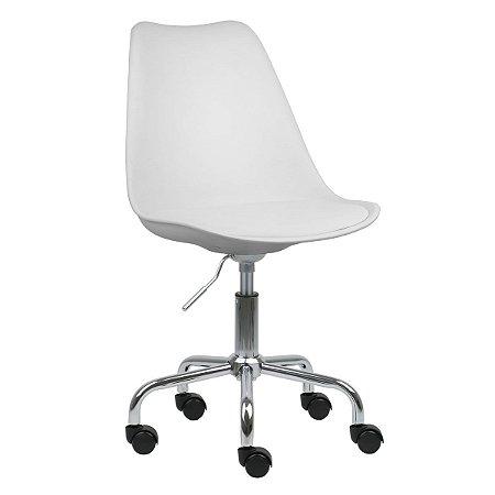 Cadeira Branca New Soft Office em PP/PU