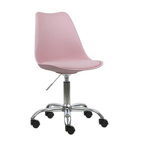 Cadeira Rosa New Soft Office em PP/PU