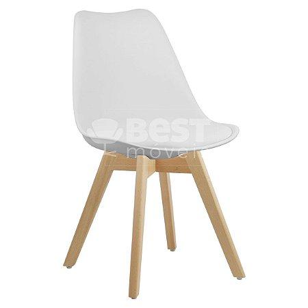 Cadeira Branca Charles Eames Style Soft em PP/PU