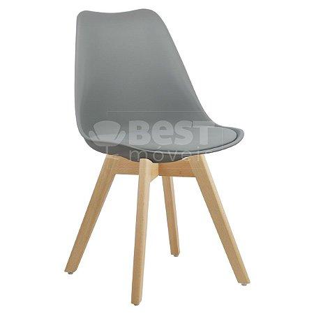 Cadeira Cinza Claro Charles Eames Style Soft em PP/PU