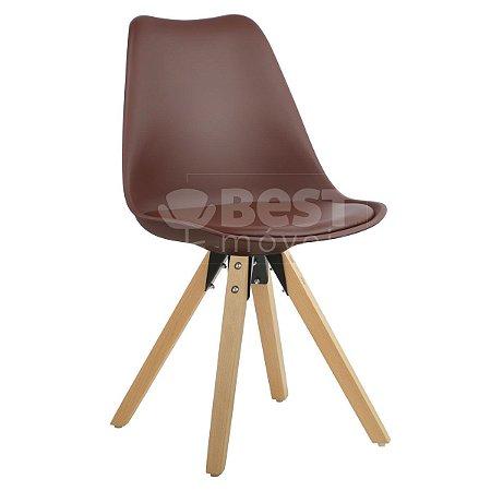 Cadeira Café Charles Eames Modern Soft em PP/PU