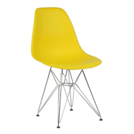 Cadeira Amarela Charles Eames Eiffel Dsr em PP