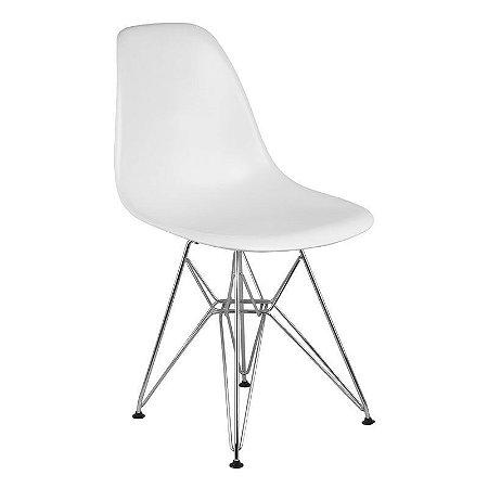 Cadeira Branca Charles Eames Eiffel Dsr em PP