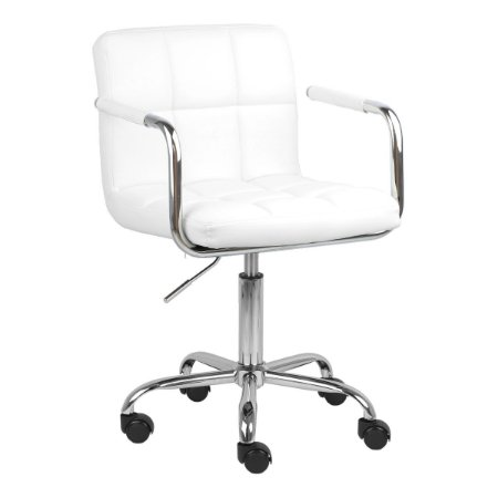 Cadeira Turquia Branca em PU e Base Aranha Cromada