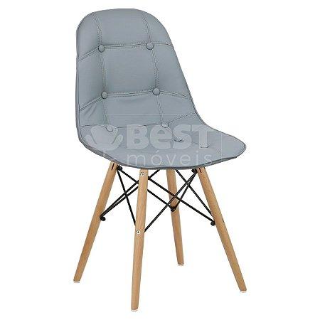 Cadeira Cinza Claro Botonê Dsw Charles Eames em PU