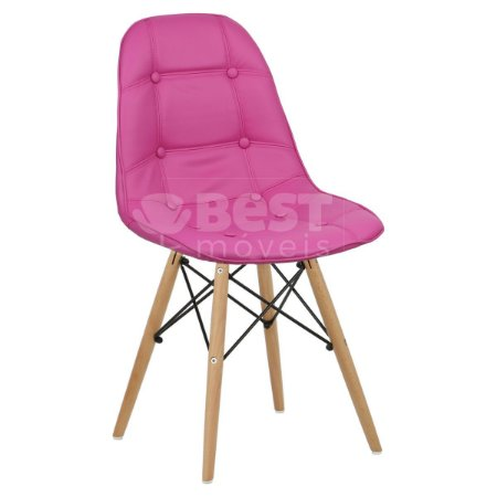 Cadeira Pink Botonê Dsw Charles Eames em PU