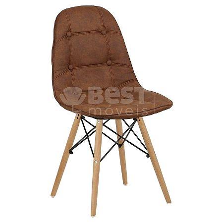 Cadeira Caramelo Botonê Dsw Charles Eames em PU Cowboy