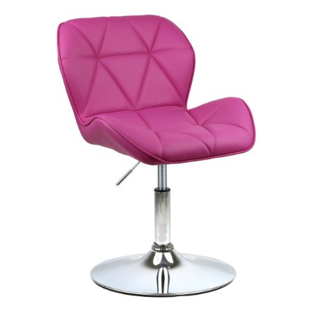 Cadeira Moscou Pink em PU Base Disco