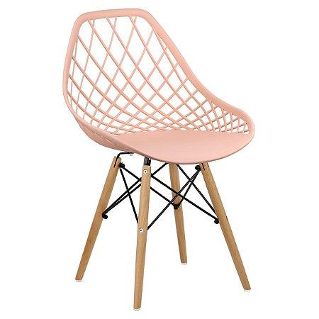 Cadeira Marine Salmão Wood em PP