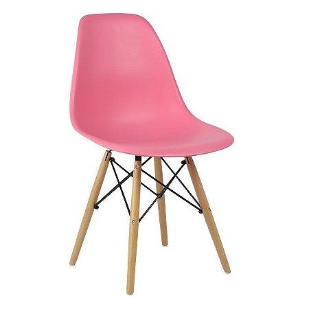Cadeira Pink Charles Eames Wood Dsw em PP