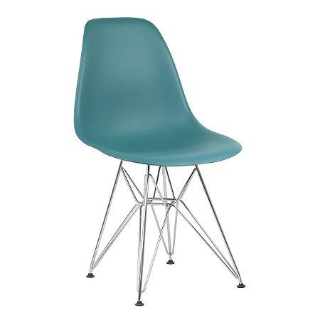 Cadeira Turquesa Charles Eames Eiffel Dsr em PP