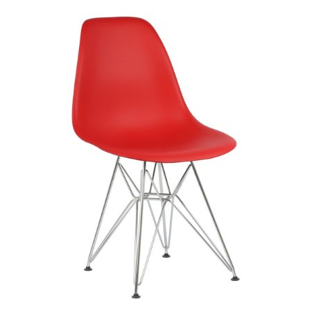 Cadeira Vermelha Charles Eames Eiffel Dsr em PP