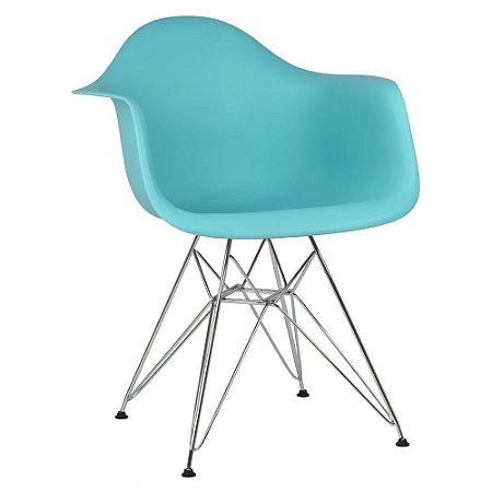 Cadeira Azul Tiffany Charles Eames DAR em Polipropileno