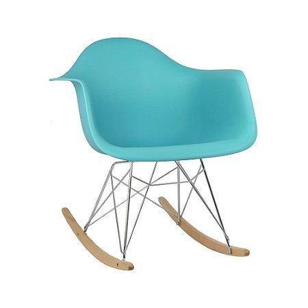 Cadeira Azul Tiffany Charles Eames Balanço DAR em PP