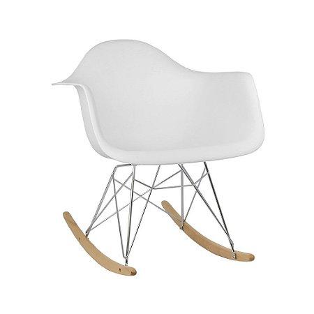 Cadeira Branca Charles Eames Balanço DAR em PP
