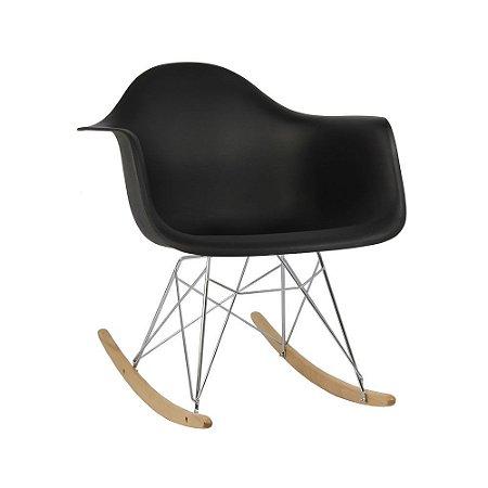 Cadeira Preta Charles Eames Balanço DAR em PP