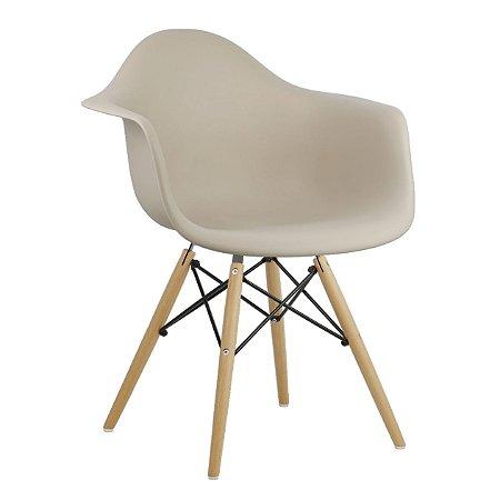 Cadeira Bege Charles Eames Wood Daw em PP