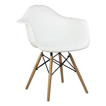 Cadeira Branca Charles Eames Wood Daw em PP