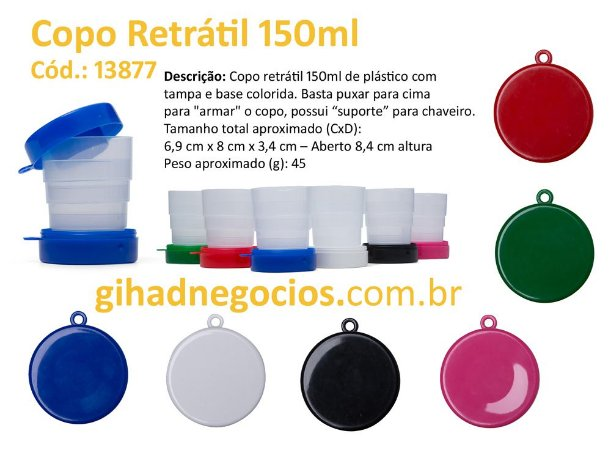 Copo Plastico Retratil   13877  198    -  VER MAIS MODELOS