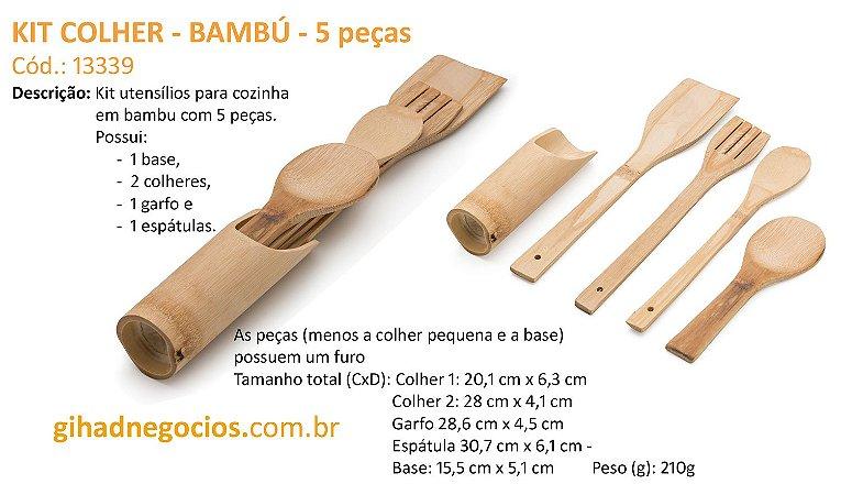 Kit Colher de Bambu 13339 - VER MAIS MODELOS