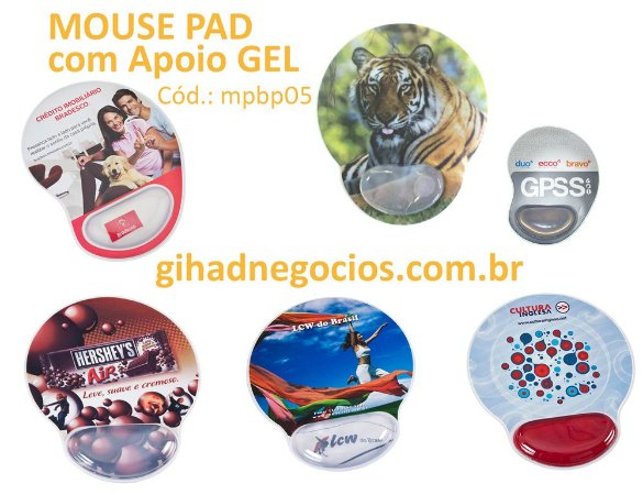 Mouse Pad APOIO GEL FOTO  12017  169  1811  11614  12138  12185  12697  -  mais modelos