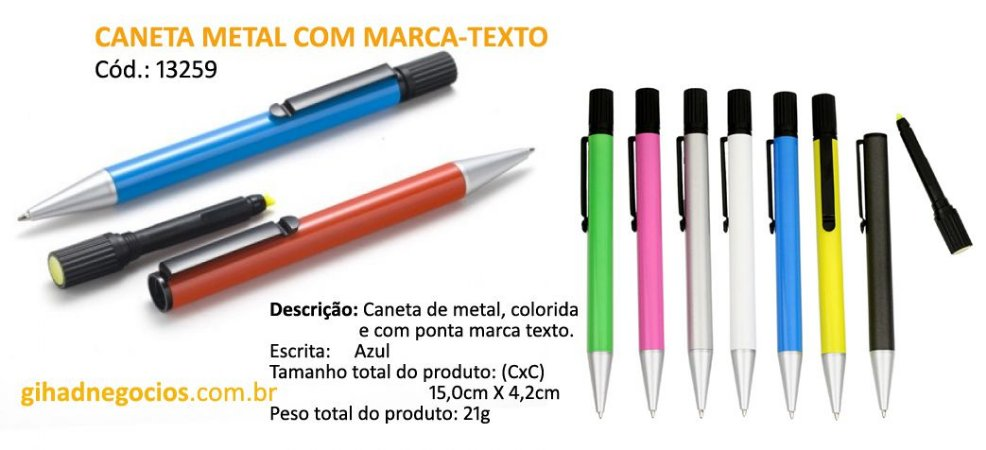 Caneta MARCA-TEXTO m3000 - OUTROS MODELOS