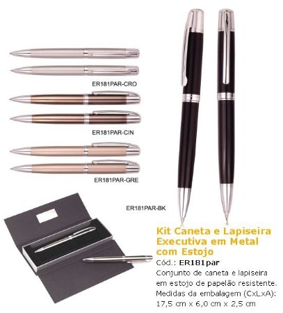 Kit Executivo ER181PAR - Mais Modelos