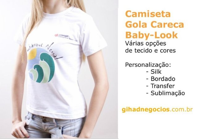 Camisetas - Camisas PROMOCIONAIS - ABADAS