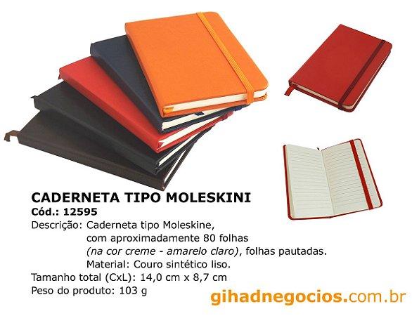 Bloco tipo  Moleskine  12941 12595   191 -  MAIS MODELOS