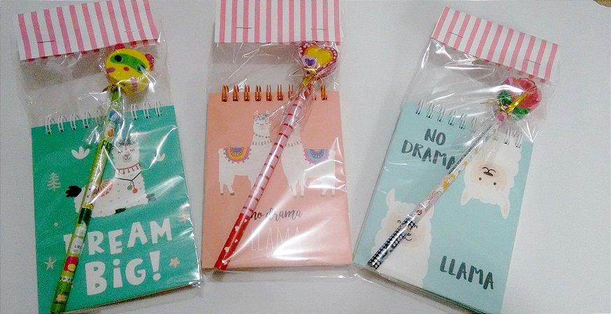 Mini Caderneta com capa dura e lápis