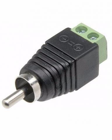 Conector Adaptador Rca Macho x Borne