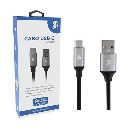 Cabo Usb Tipo C Para Usb A - Premium 1,2 Metros 5+ MP-100C