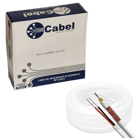 Cabo Coaxial 4mm Bipolar 100% Cobre, 95% de malha | Cabel -100 Metros