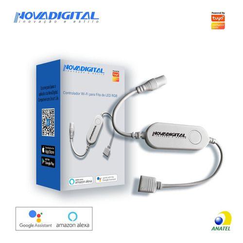 Controlador Wi-Fi para Fita de LED RGB - Novadigital CLW-01