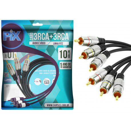 Cabo Rca A/v 10 Metros Premium Chip Sce 018-0753