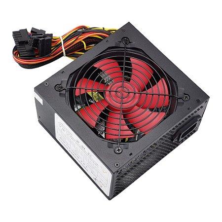 Fonte ATX 500W 24 Pinos Cooler 12cm - 220V