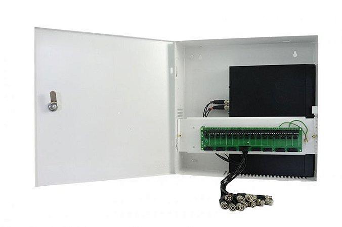 Rack Organizador Para Cftv 4 Canais VERTICAL FINE HD HÍBRIDO