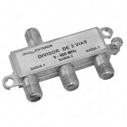 Divisor De Sinal 1x3 Baixa Frequência 5-1000Mhz Antena UHF VHF