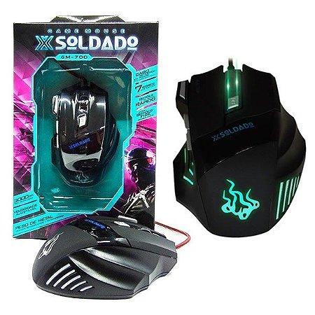 Mouse Gamer X Soldado 3000 Dpi Gm-700 7 Cores - Infokit