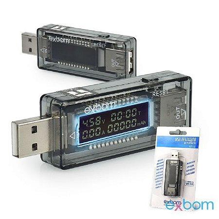 Testador Usb Voltímetro Amperímetro Com Display 3 - 30V UTS-10
