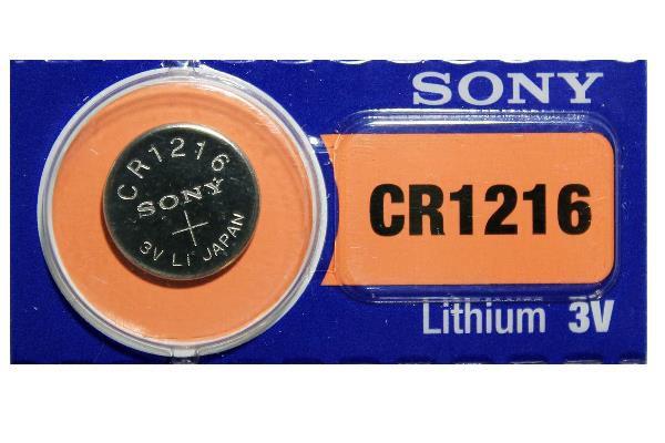 Bateria Botão Cr 1216 Sony Lithium 3v - 1 Unidade