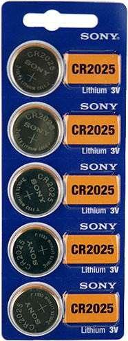 Bateria Botão Cr 2025 Sony Lithium 3v - 5 Unidades