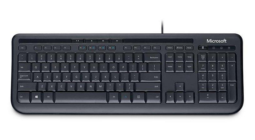 Teclado Microsoft Wired 600 Preto - ABNT2