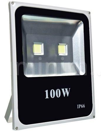 Refletor Led 100w Holofote Bivolt Prova D'água Branco Frio Ip66