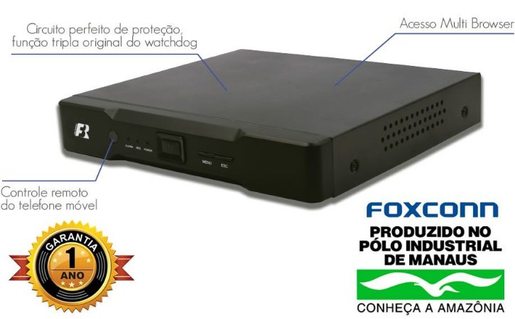 DVR HD 16 CANAIS 4 EM 1 FOCUSBRAS  HB5-1M16
