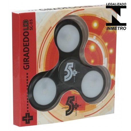 Fidget Hand Spinner Com Leds, Preto - Homologado Inmetro